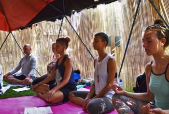 Meditatieles door Ariane Grigo in de Geheime Tuin